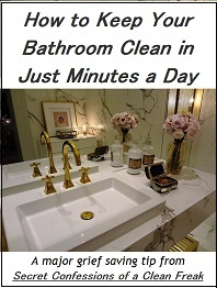 clean bathroom fast
