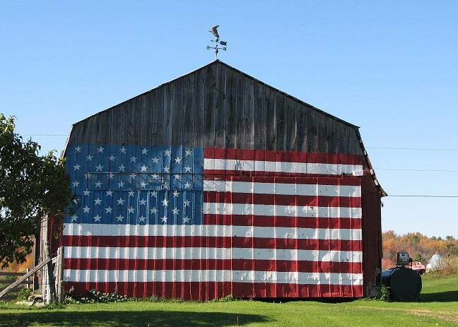 patriotic-barn