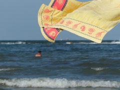 wet beach towels
