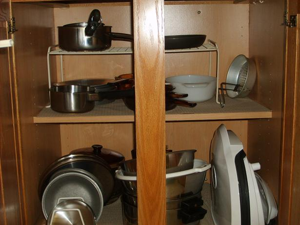 storing pots and pans