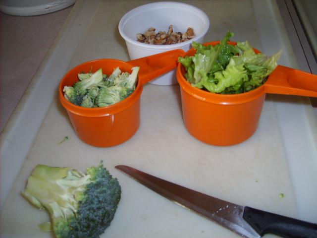 Vegetables Serviing Sizes